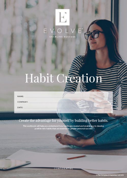 This is habit creation workbook part of the coaching programme delivered by Evolve Member
